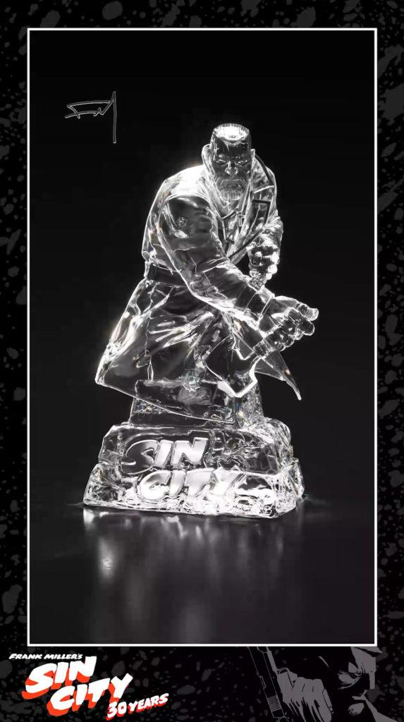 Escultura 3D de Marv, personaje de Sin City
