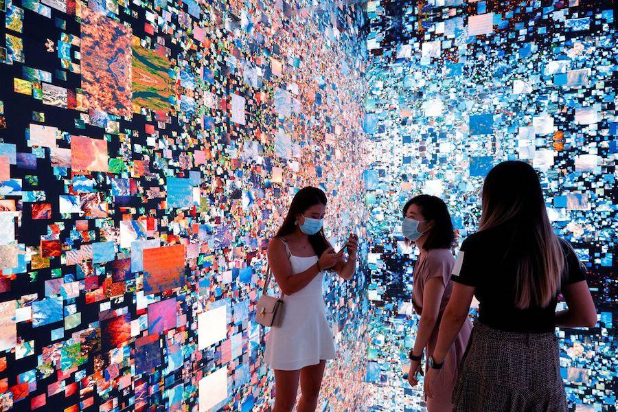 Imagen de una exhibición multimedia