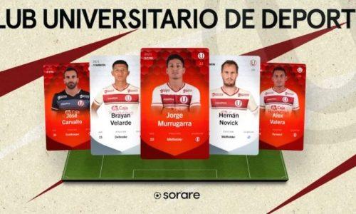 Tarjetas de Sorare de los jugadores del Universitario de Deportes del Perú