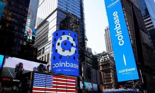 Imagen de Coinbase en Times Square