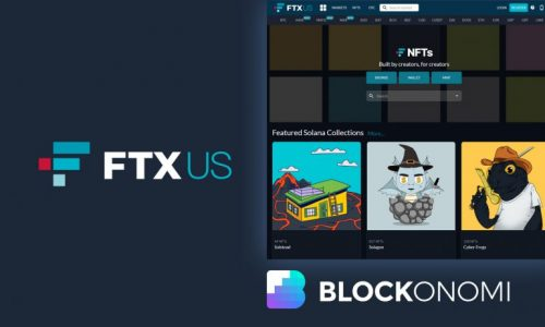 Página de inicio del mercado de NFT, FTX US